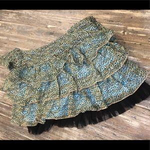 Cheetah Print Skirt Forever 21 sz XS